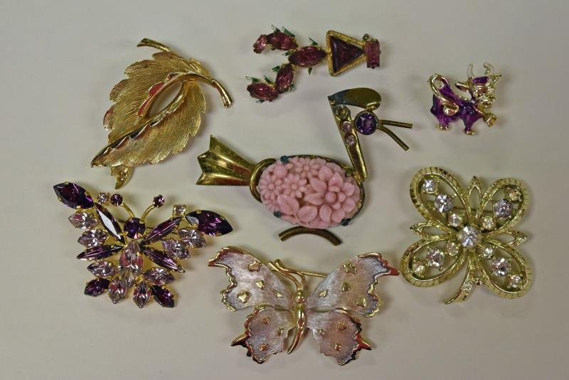 Collection of Purple & Goldtone Jewelry - 2