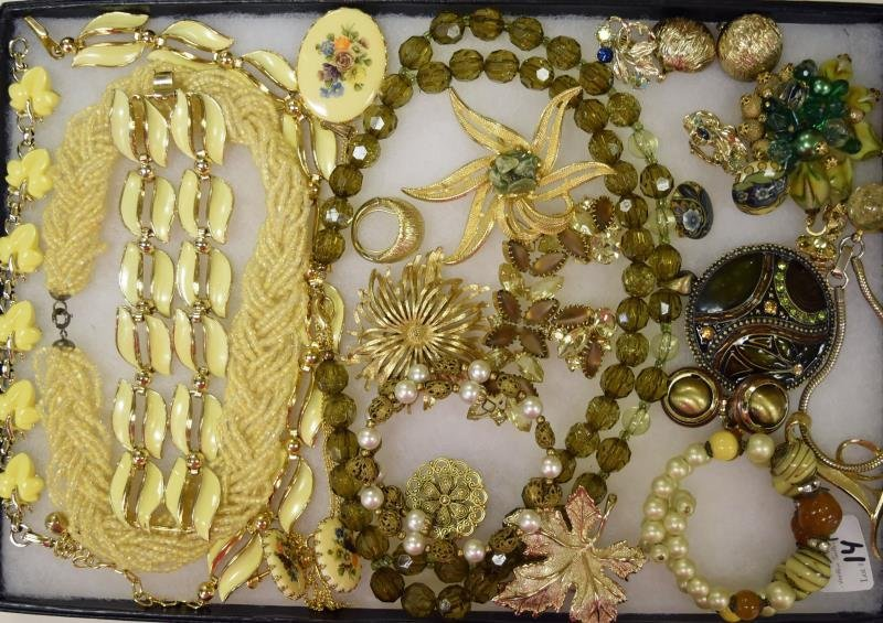 Collection of Green and Yellow Jewelry