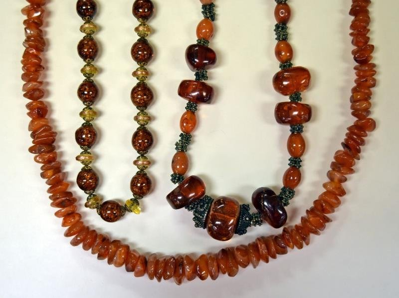 Collection of Amber Costume Jewelry - 2