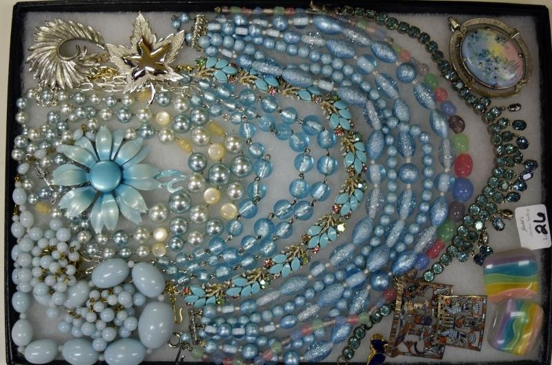 Collection of Baby Blue Costume Jewelry
