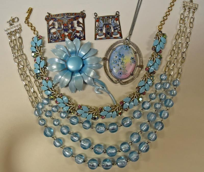 Collection of Baby Blue Costume Jewelry - 3