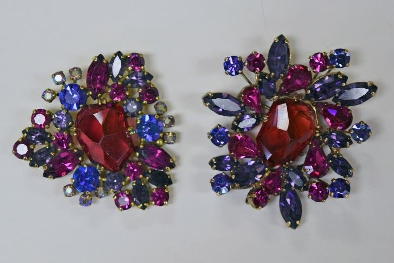 Weiss Vintage Multi Colored Pins or Brooches