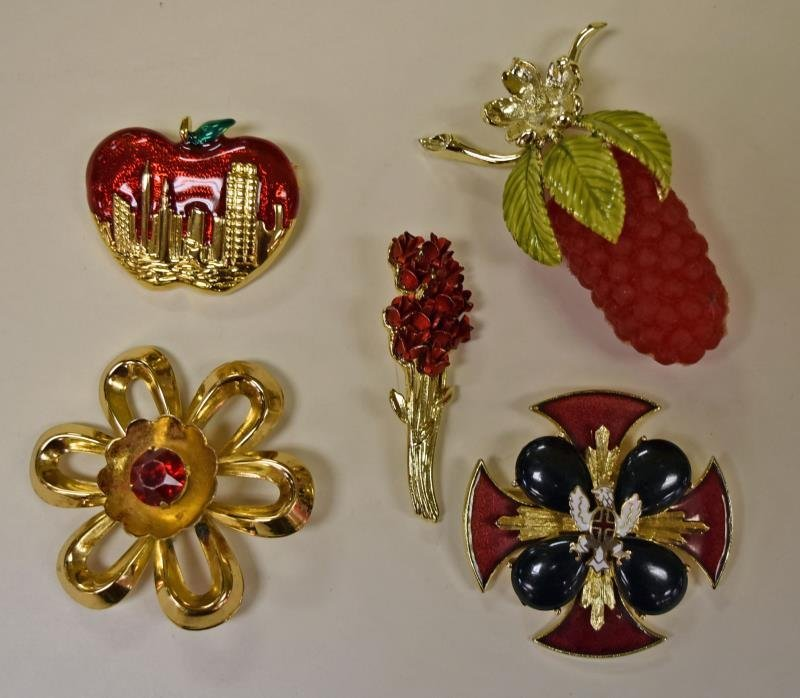 Collection of Red and Goldtone Costume Jewelry - 2