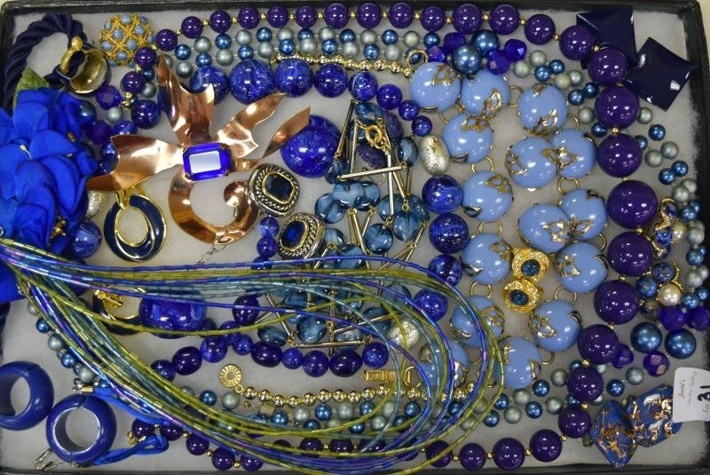 Collection of Cobalt Blue Costume Jewelry
