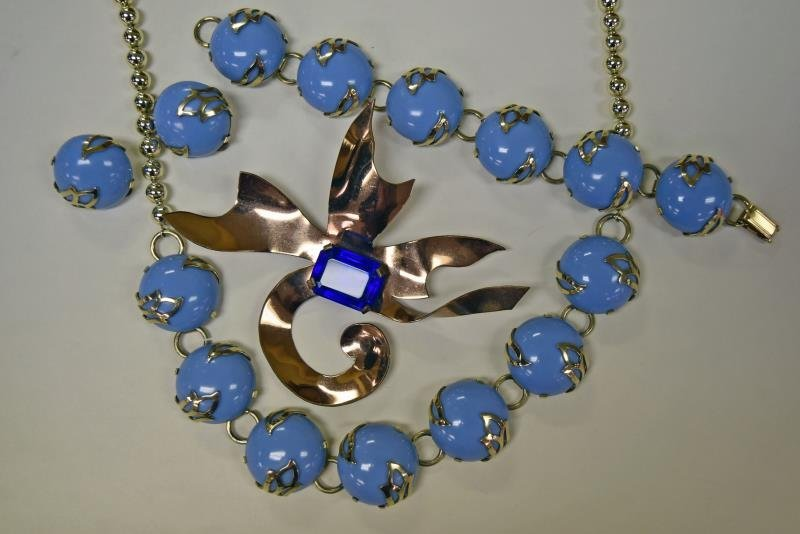 Collection of Cobalt Blue Costume Jewelry - 2