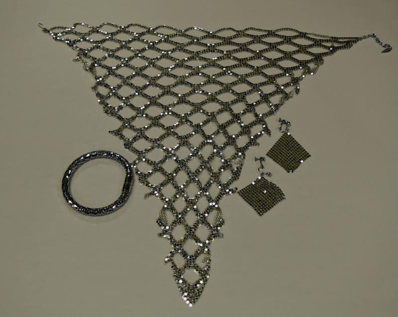Whiting Davis Handkerchief  Mesh Necklace