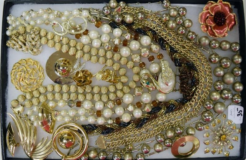 Collection of Goldtone Costume Jewelry