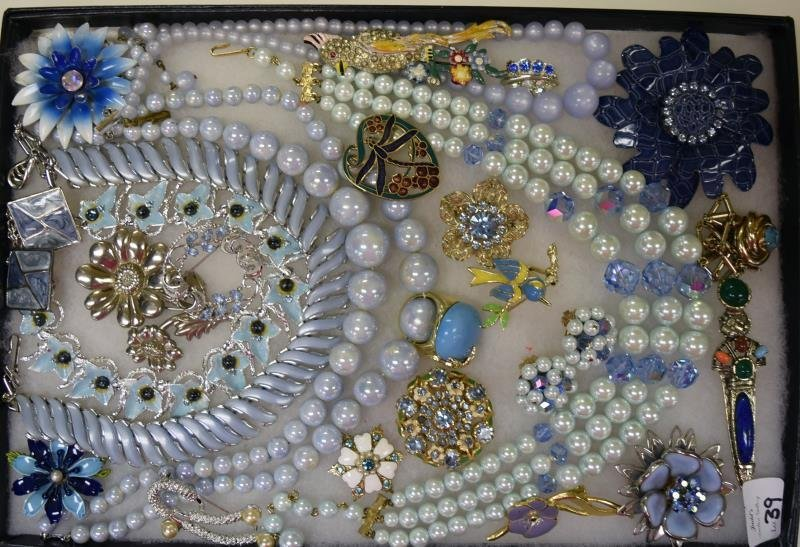 Collection of Light Blue Costume Jewelry