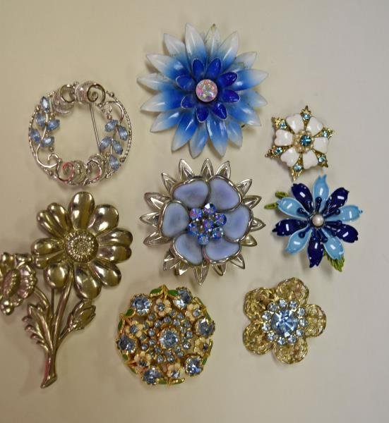 Collection of Light Blue Costume Jewelry - 2