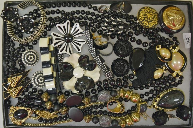 Collection of Black & White Costume Jewelry