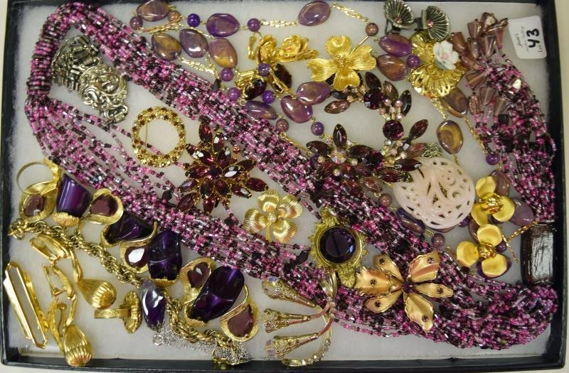 Collection of Purple Costume Jewelry