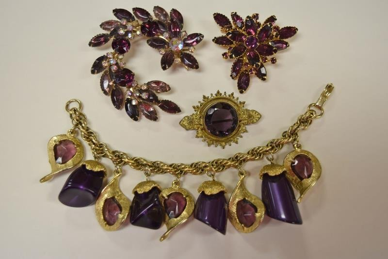 Collection of Purple Costume Jewelry - 2