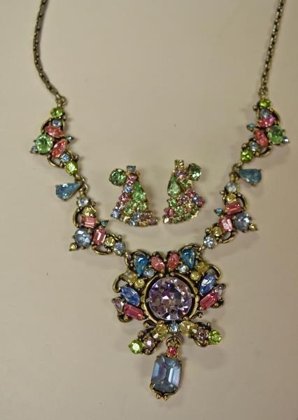 Vintage Multi-Colored Rhinestone Necklace
