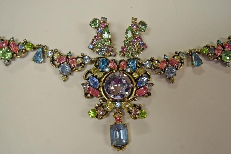 Vintage Multi-Colored Rhinestone Necklace - 2