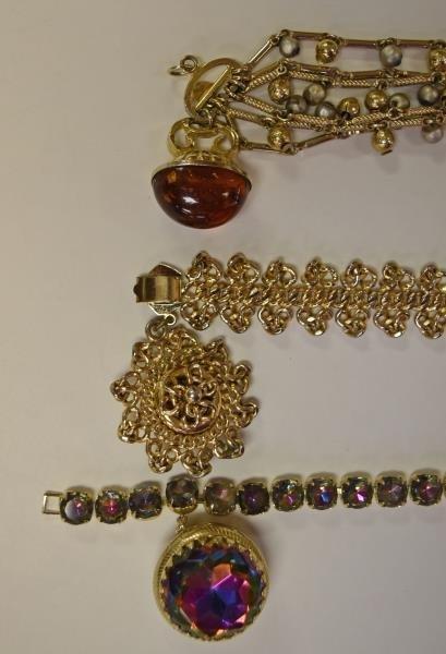 Vintage Rhinestone Bracelet - 2