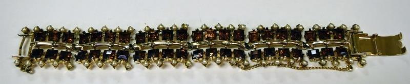 Rousseau Rhinestone Link Bracelet