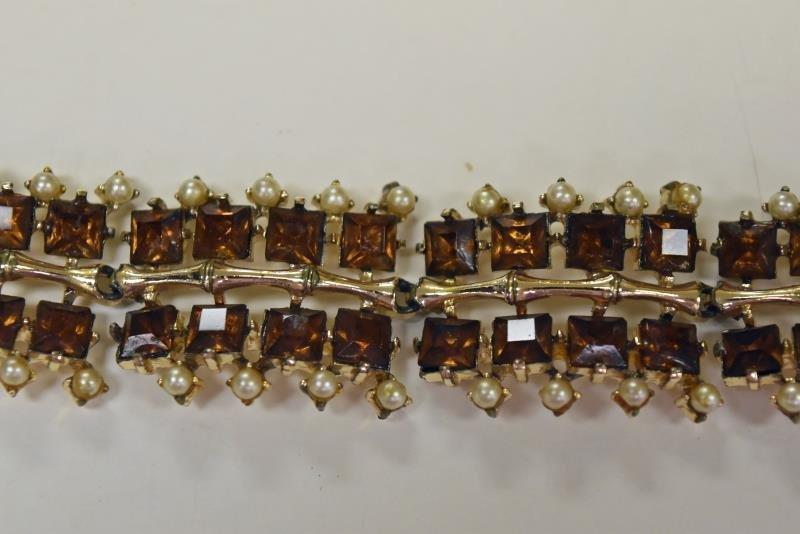 Rousseau Rhinestone Link Bracelet - 2