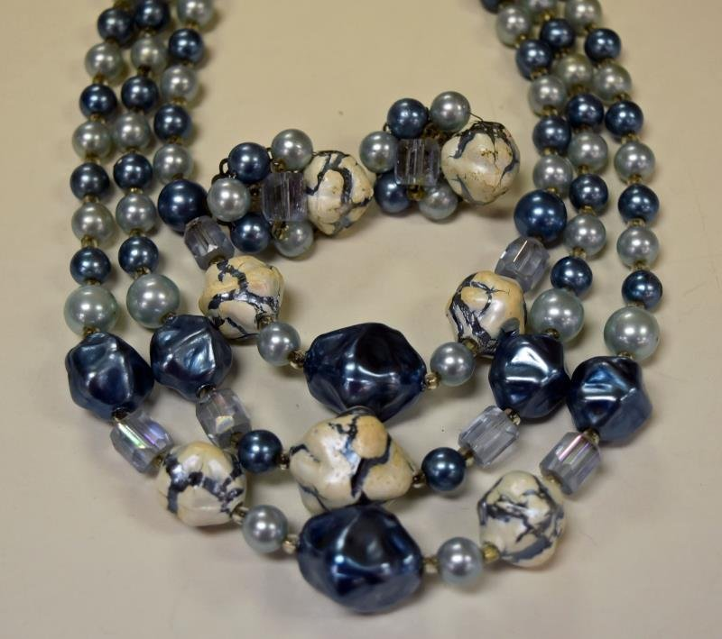 Three Sets of Demi-Parure Necklaces & Earrings - 2