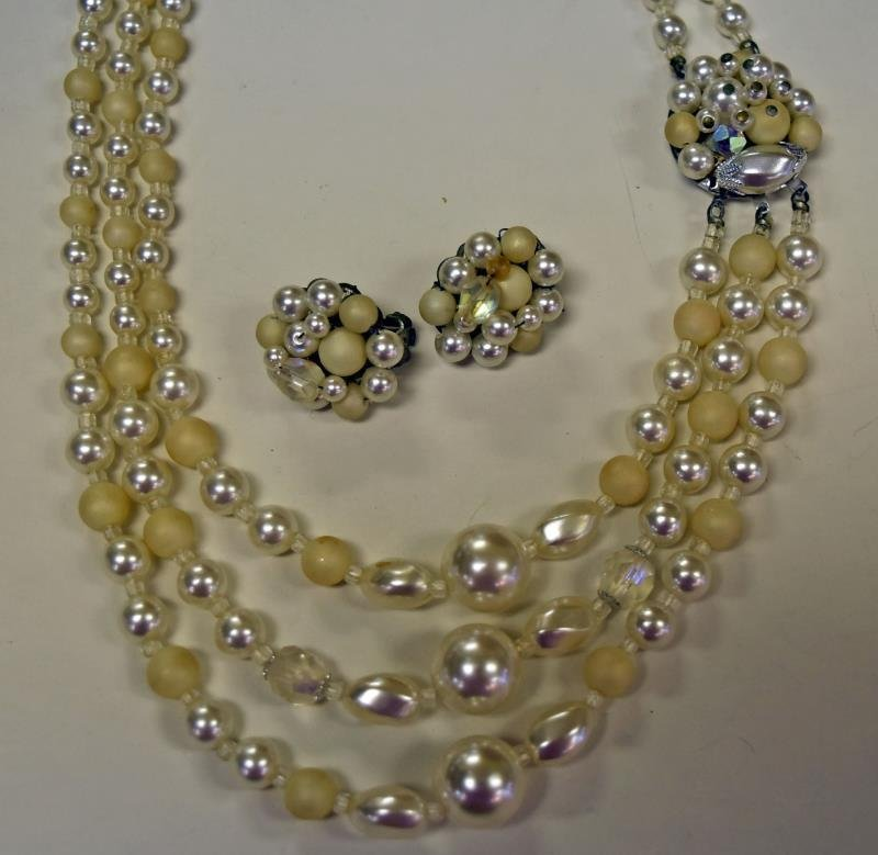 Three Sets of Demi-Parure Necklaces & Earrings - 3