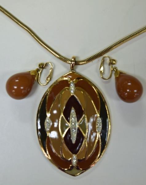 Circa 1970's Eisenberg Pendant Necklace - 2
