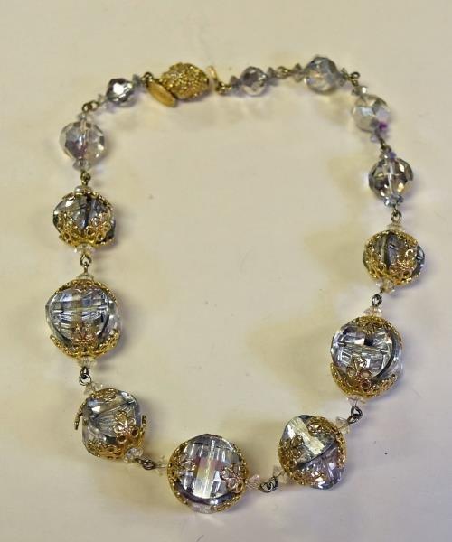 Vintage VenDome Goldtone & Crystal Necklace