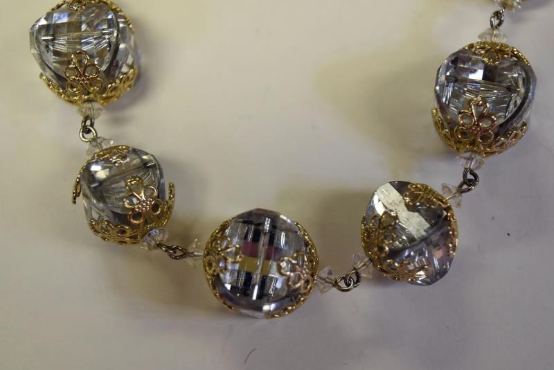Vintage VenDome Goldtone & Crystal Necklace - 2
