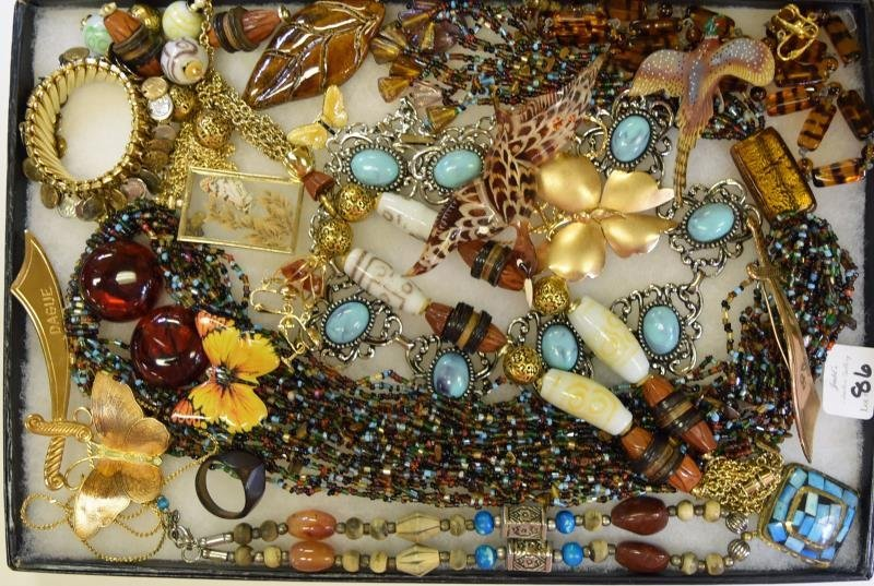 Collection of Brown and Goldtone Jewelry