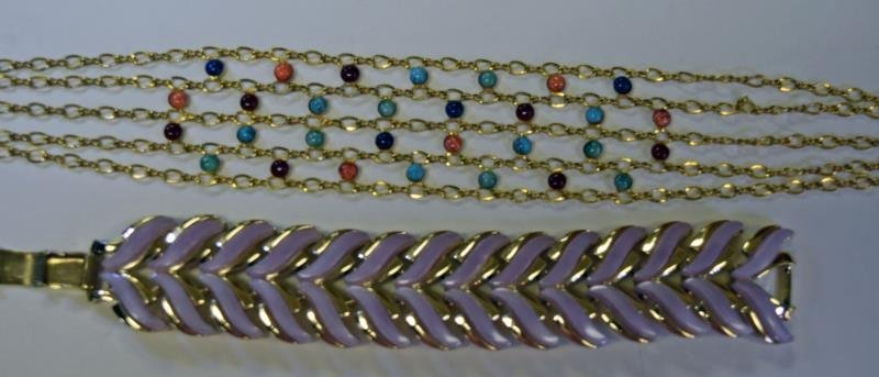 Collection of Goldtone and Purple Jewelry - 3