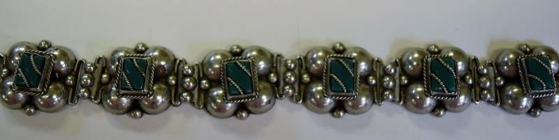 Collection of Green & Silvertone Costume Jewelry - 3