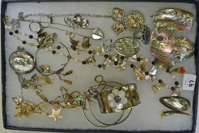 A Group of Abalone Jewelry