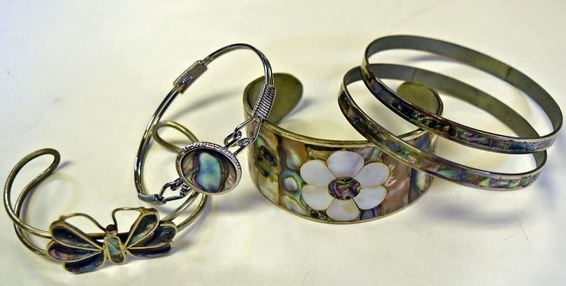 A Group of Abalone Jewelry - 2