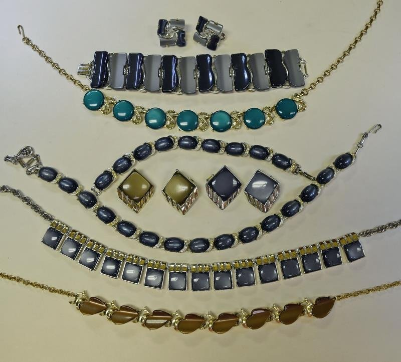 A Group of Mid-Century Plastic Optic Jewelry