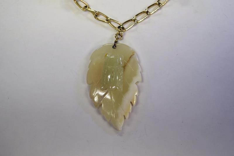 Hobe Leaf Form Necklace - 3