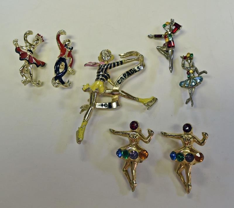 A Group of Ice Skaters & Ballet Pins