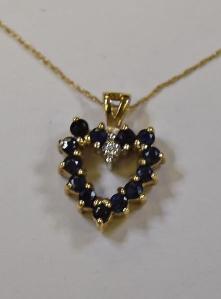 10K Yellow Gold Heart Necklace - 2