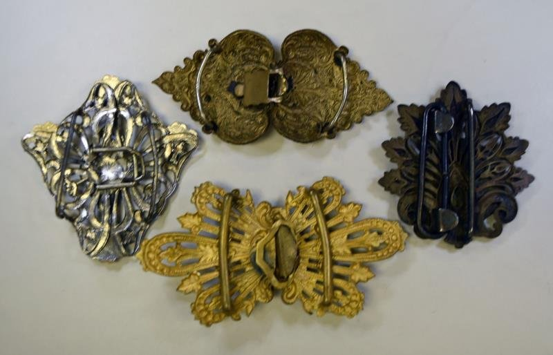 Vintage Victorian Ribbon Buckles - 2
