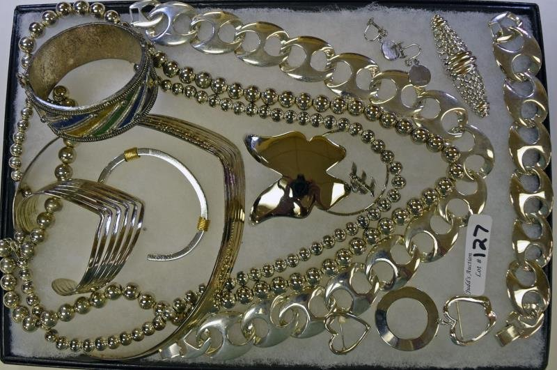 A Group of Silvertone Jewelry