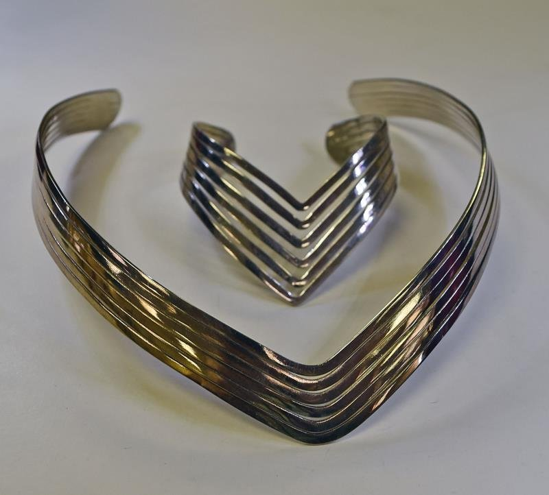 A Group of Silvertone Jewelry - 2
