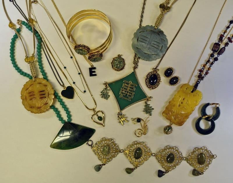 A Group of Asian Influenced Jewelry