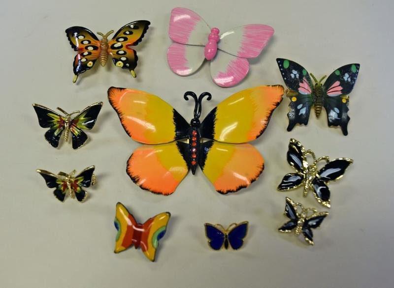 A Group of Butterfly Pins