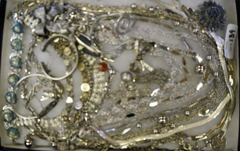 Group of Silvertone Jewelry