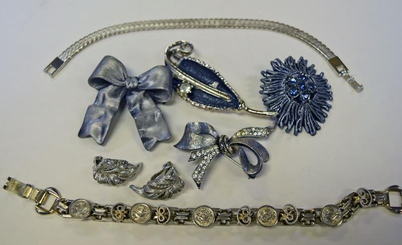 Group of Silvertone Jewelry - 3