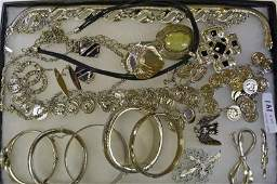 Group of Silvertone Jewelry