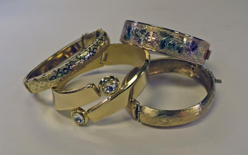 Group of Gold Bangle Bracelets
