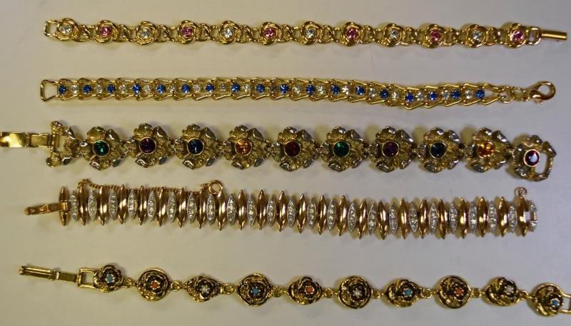 Collection of Vintage Gold Bracelets