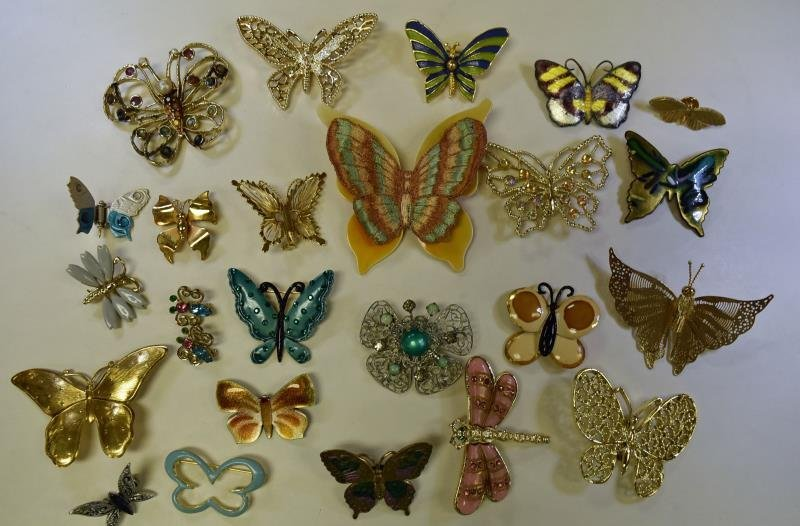 Large Collection of Butterfly pins