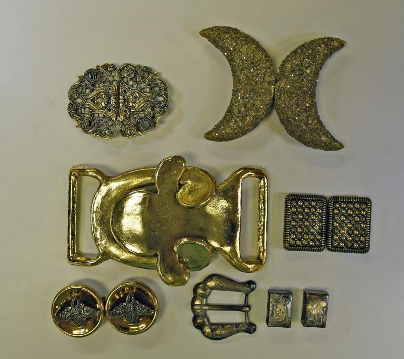 Group of Vintage Ribbon Buckles