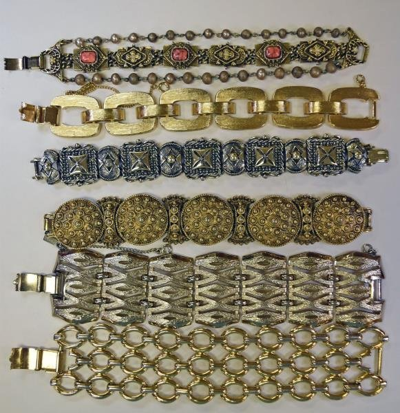 Group of Large Link Bracelets