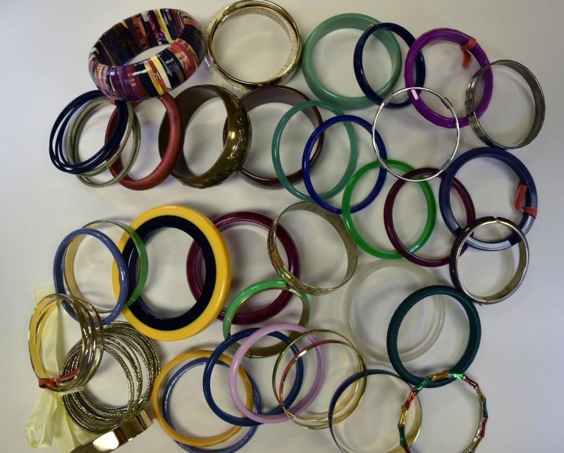 Large Group of Bangle Bracelets