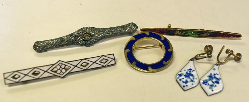 Collection of Vintage Enameled Pins